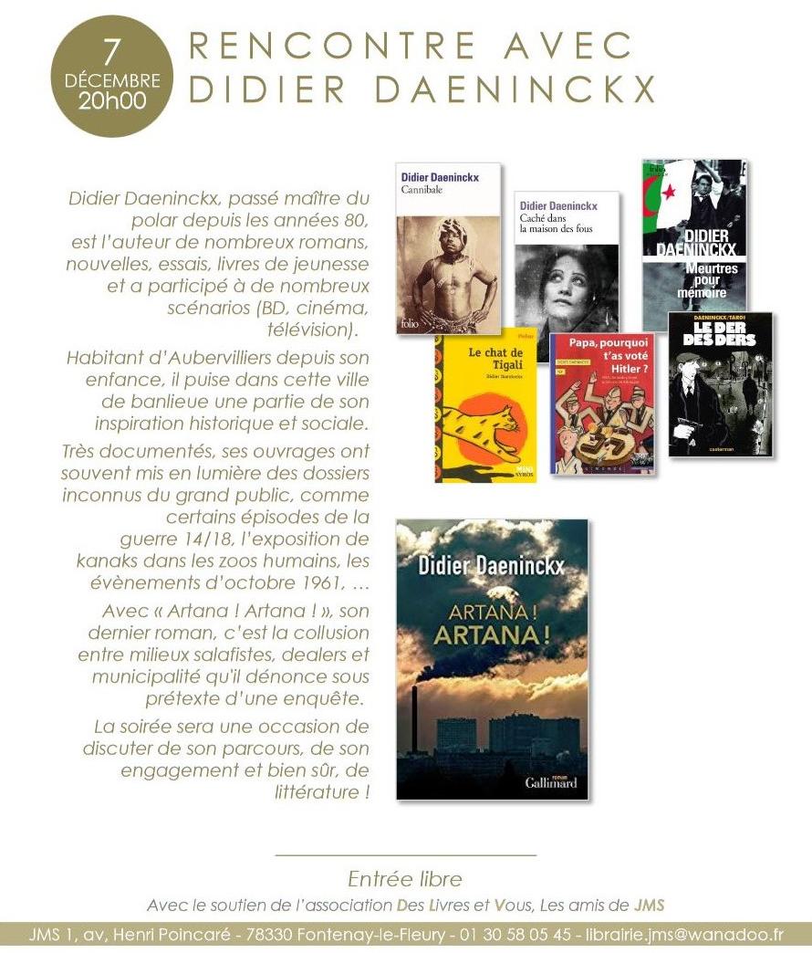 Rencontre   Avec Didier  Daeninckx